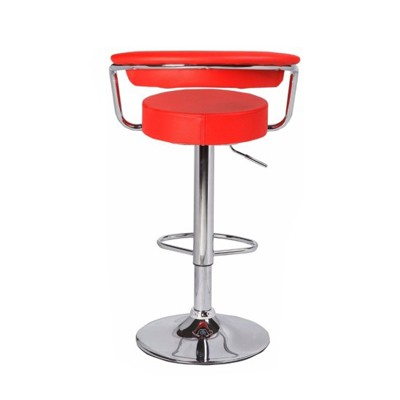 Barstool Leatherette Seat And Back With Armrest 1127