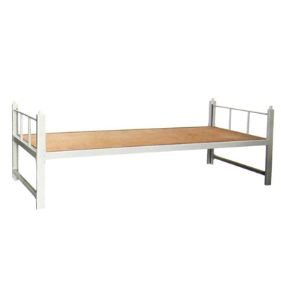 bed with steel frame
