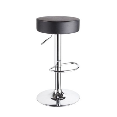 Barstool Chair Pu Leather And Chrome Steel Without Armrest Wy410b