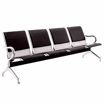 4 seater steel chair