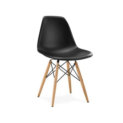 Plastic Visitors Chairs Wooden Legs 1501
