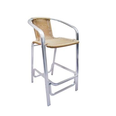 Barstool Chair Aluminum Rattan With Armrest Wbt11ap