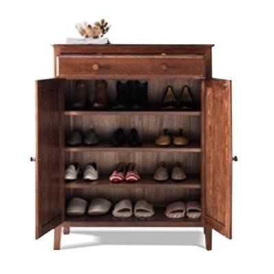 shoe rack made of wood
