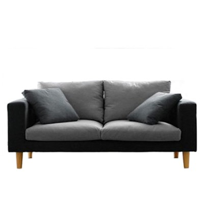 2 seater sofa with pillows