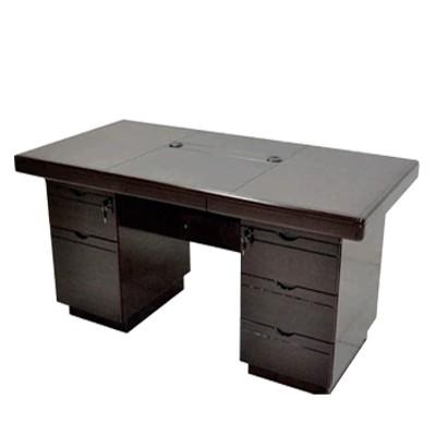 big wooden computer desk