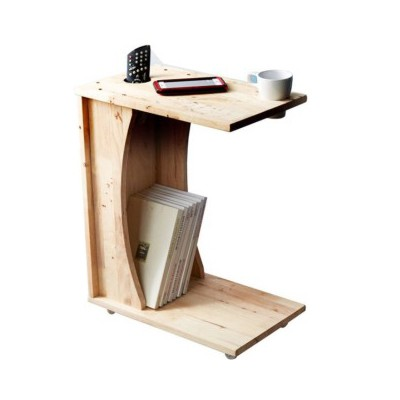 c shaped side table