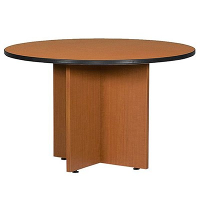 brown round table