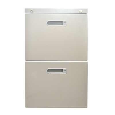 2 drawer file cabinet with lock