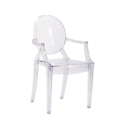 transparent plastic chair