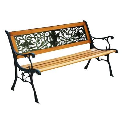 outdoor wooden park bench