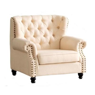 single fabric sofa