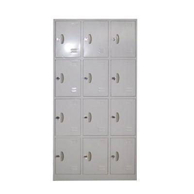 12 door steel locker