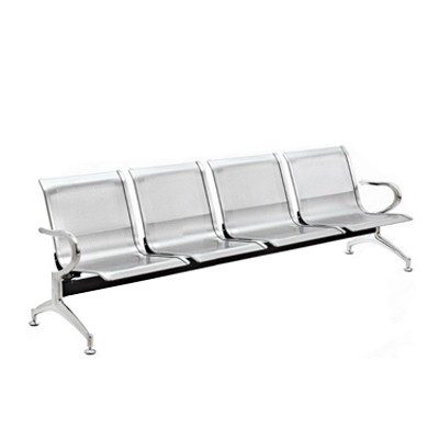 4 Seater Gang Chair With Backrest Chrome Seat And Legs Sj820g4