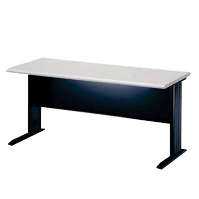 wood table with metal legs