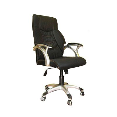 black leather swivel chair for sale